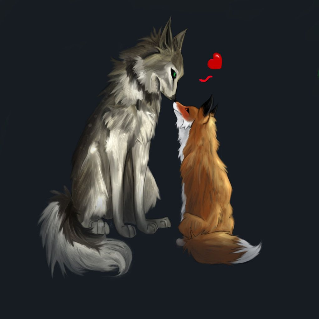 Deviantart Wallpaper: Fox And Wolf Wallpapers