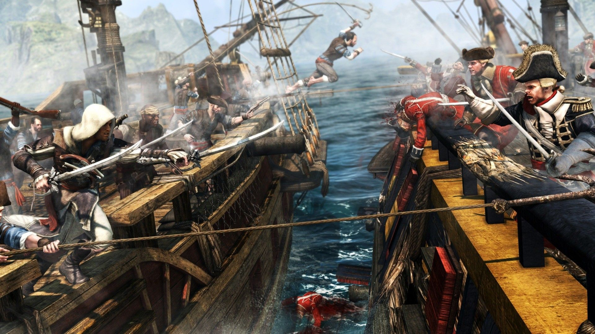 Assassin S Creed 4 Black Flag Ship Combat Wallpapers Top Free