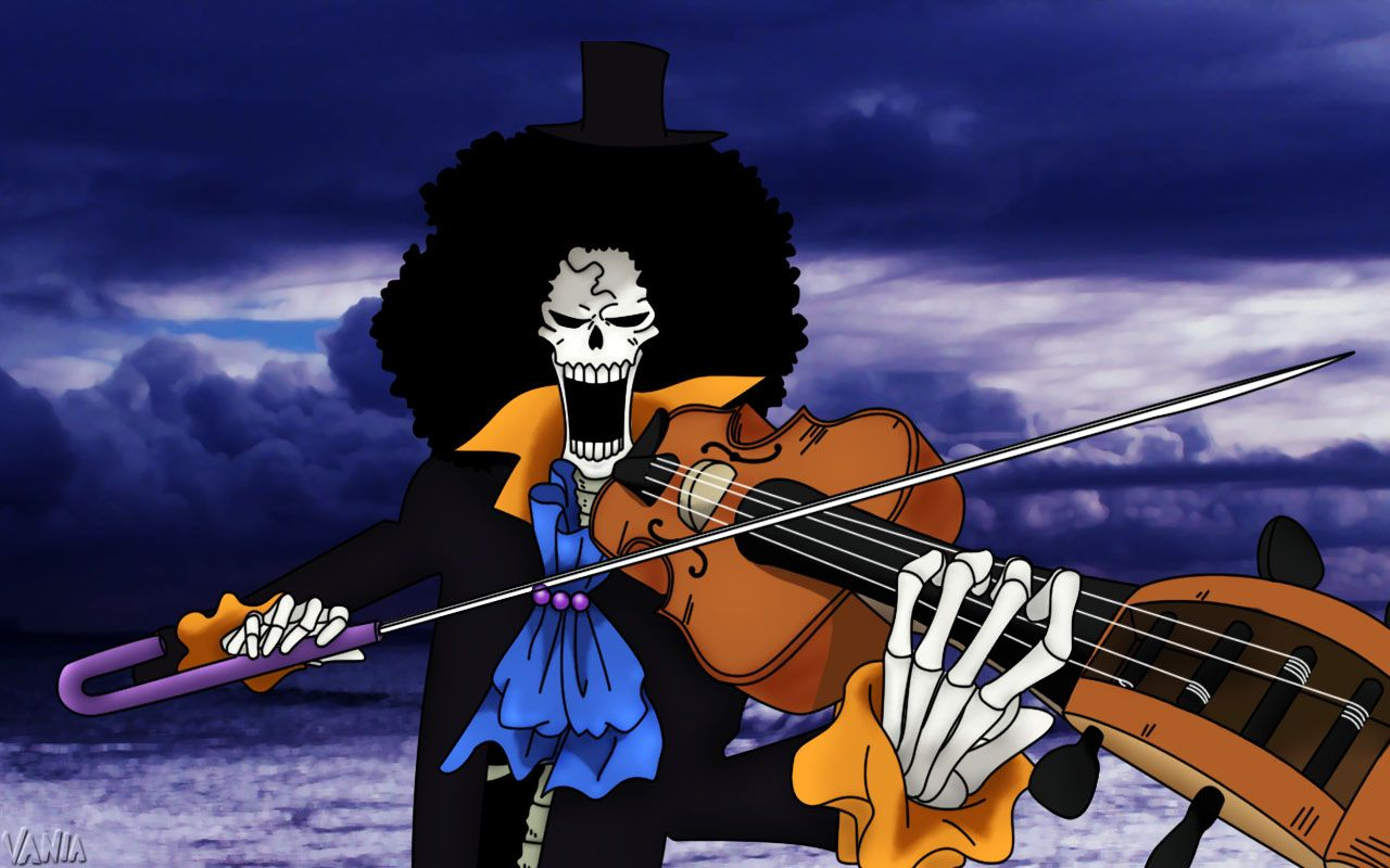 One Piece Brook Wallpapers Top Free One Piece Brook Backgrounds Wallpaperaccess