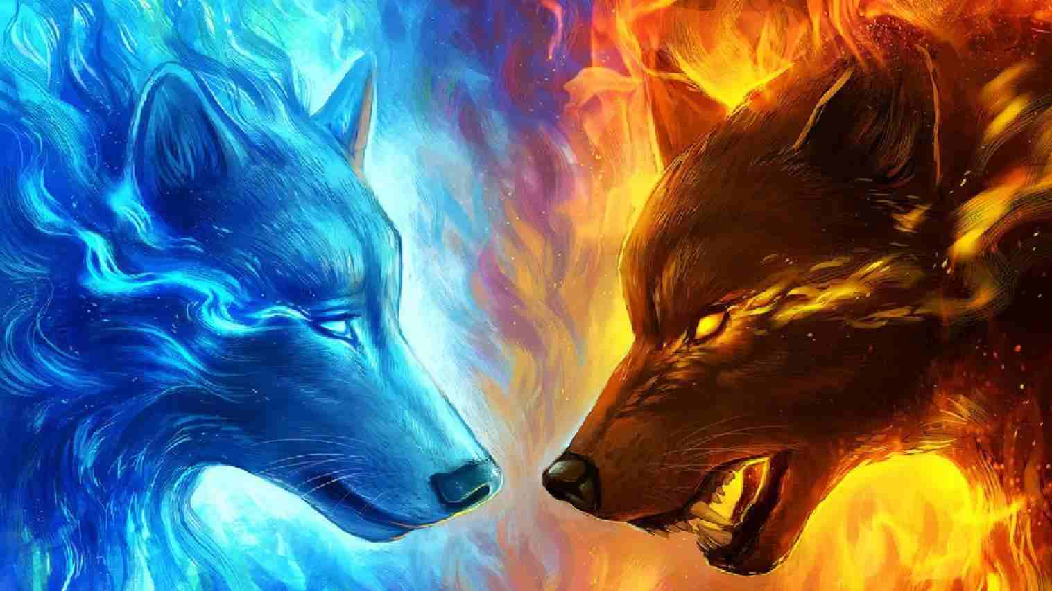 71 Best Free Blue Fire Wolf Wallpapers