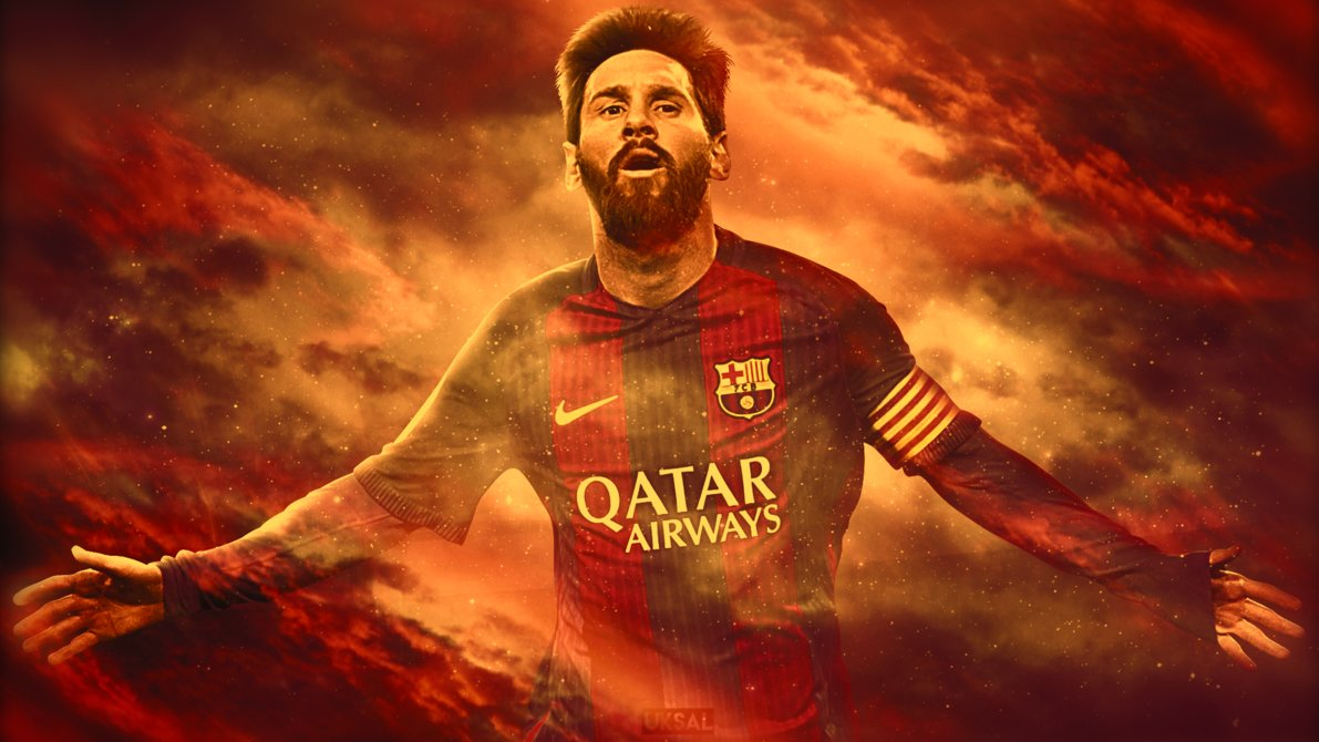 Artwork Messi Messi Wallpaper 2020