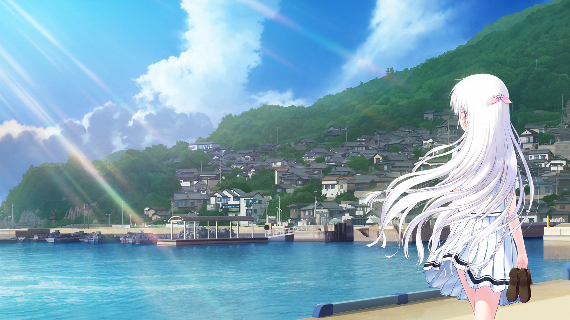 Anime Summer Wallpapers Top Free Anime Summer Backgrounds Wallpaperaccess