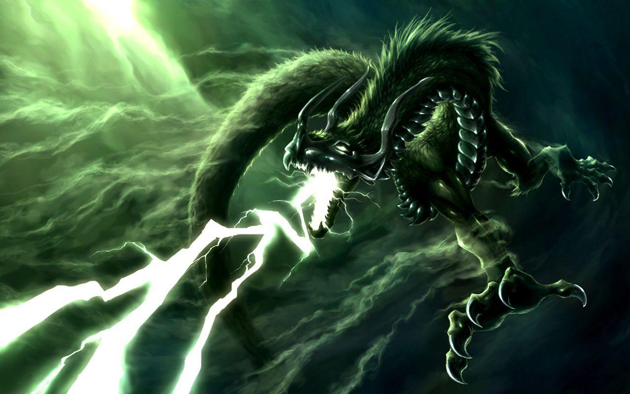 Green Lightning Dragon Wallpapers Top Free Green Lightning Dragon Backgrounds Wallpaperaccess