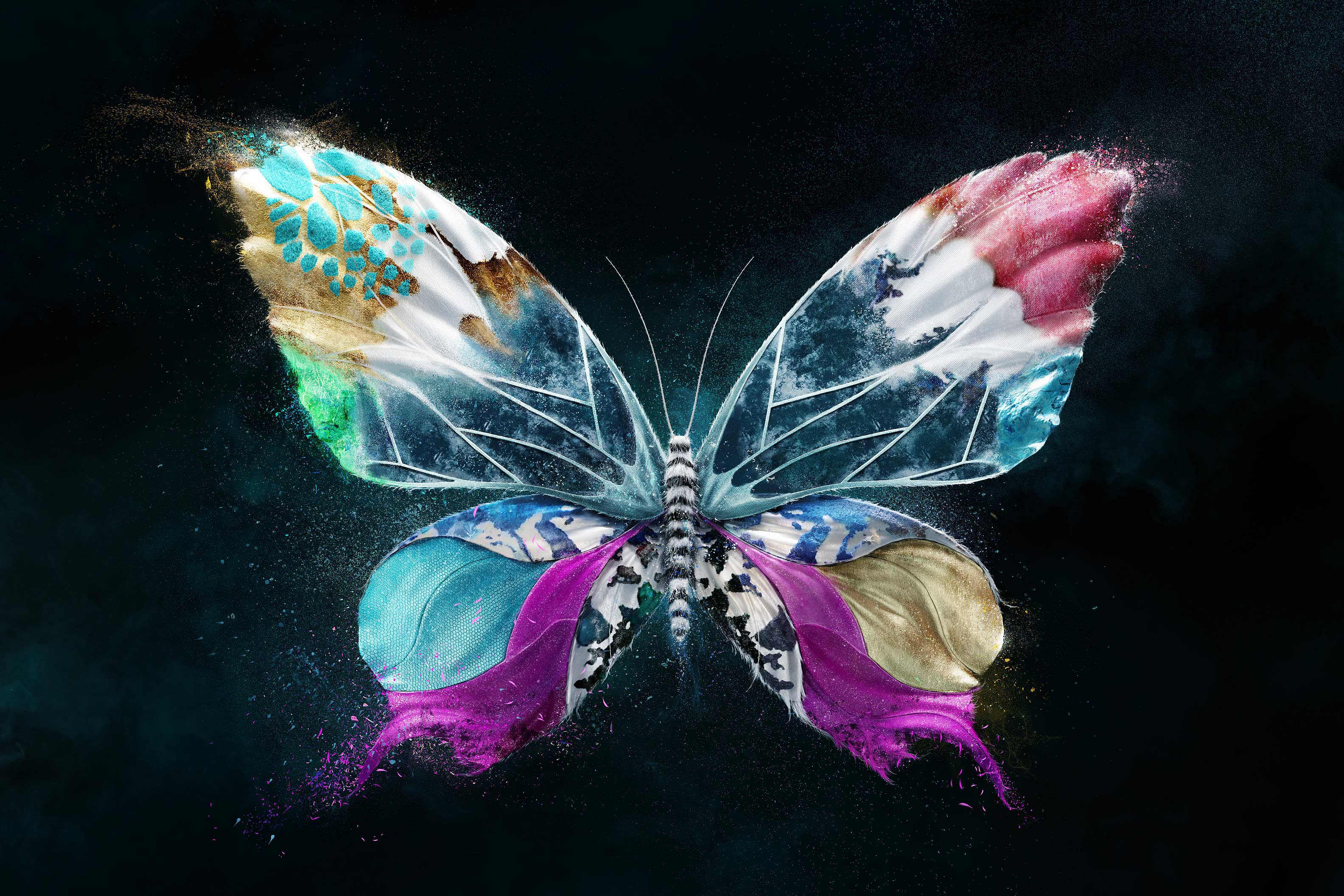 Turquoise Purple Butterfly Wallpapers - Top Free Turquoise ...