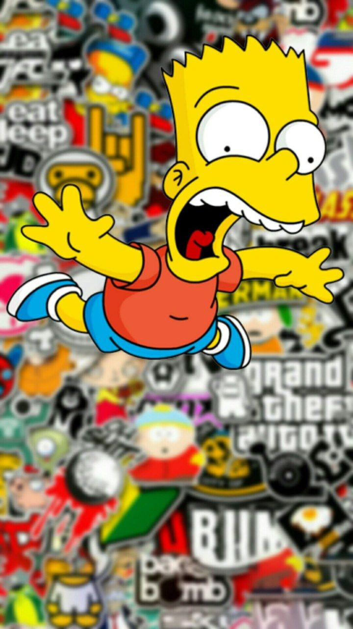 supreme bart wallpaper iphone