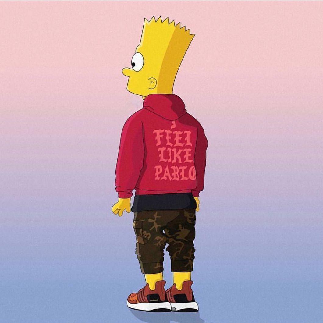 Hood Bart Simpson Supreme Wallpapers Top Free Hood Bart Simpson