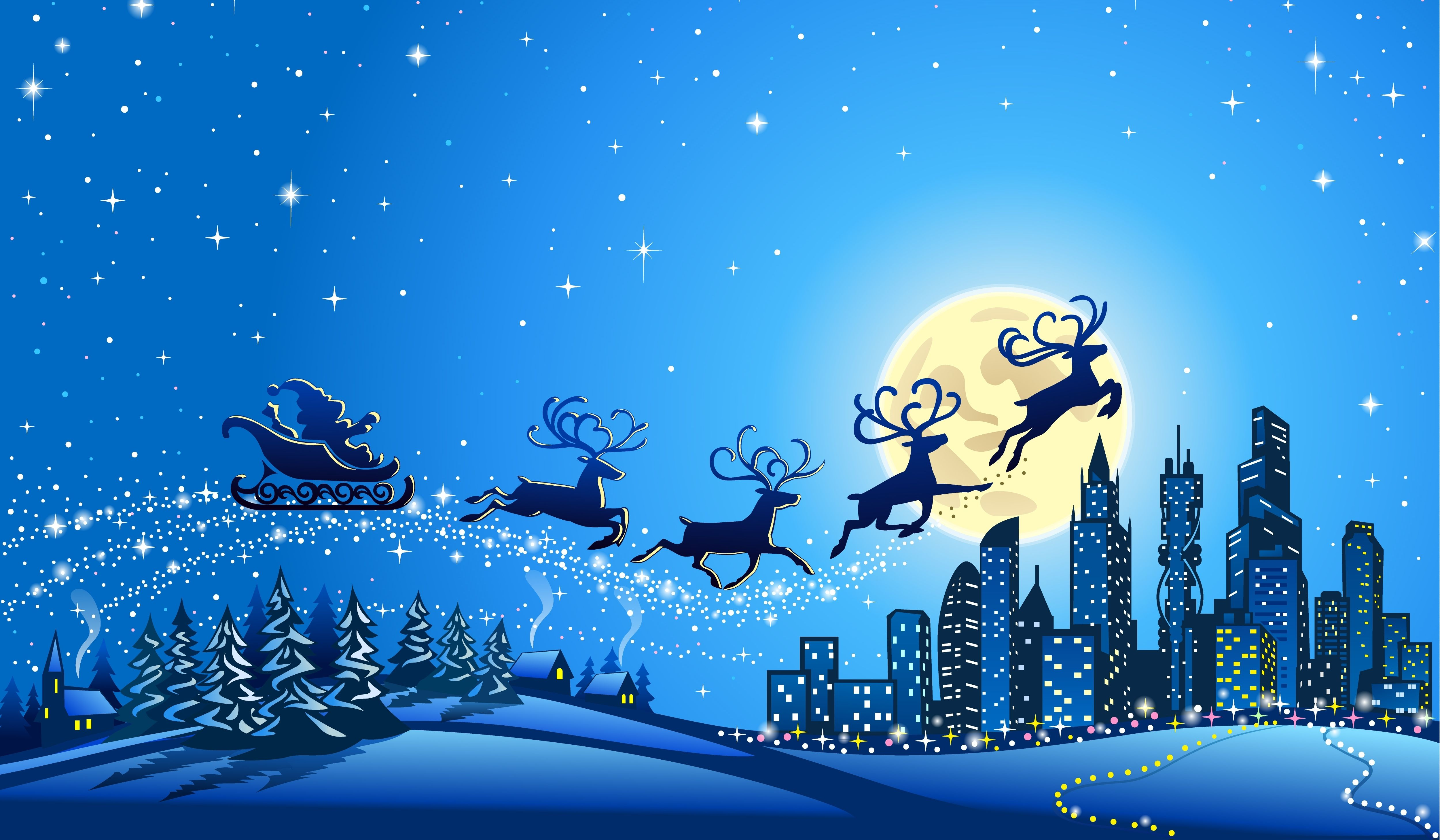 Santa S Sleigh Christmas Wallpapers Top Free Santa S