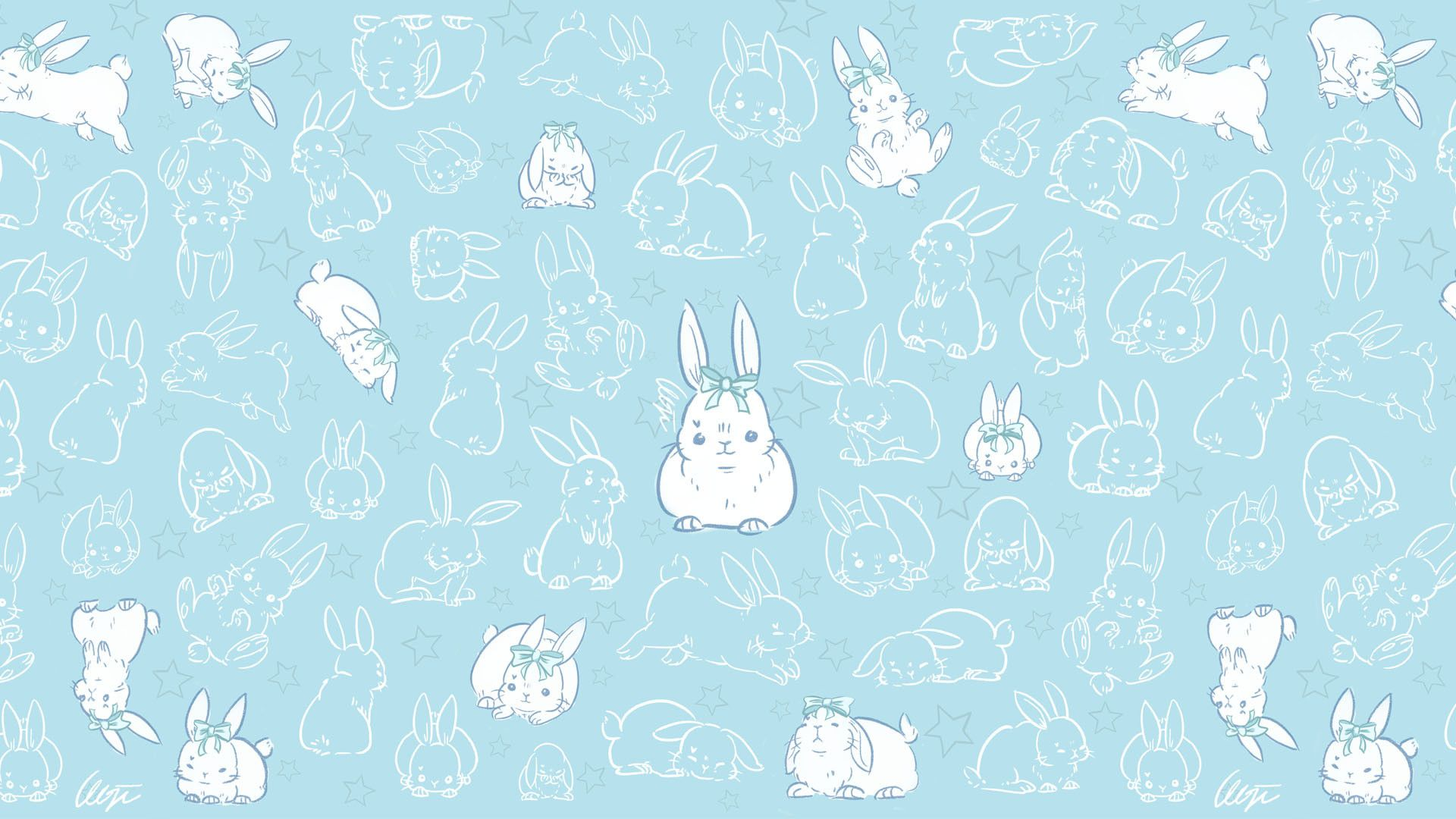 Blue Bunny Wallpapers Top Free Blue Bunny Backgrounds