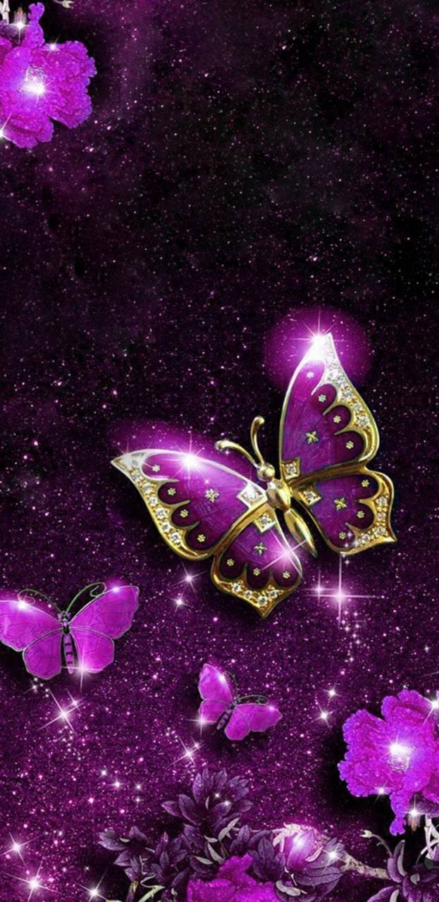 Purple Glitter Butterfly Wallpapers - Top Free Purple ...