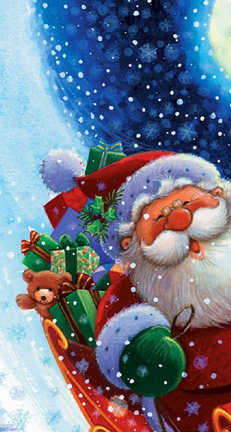 Santa Christmas Phone Wallpapers Top Free Santa Christmas