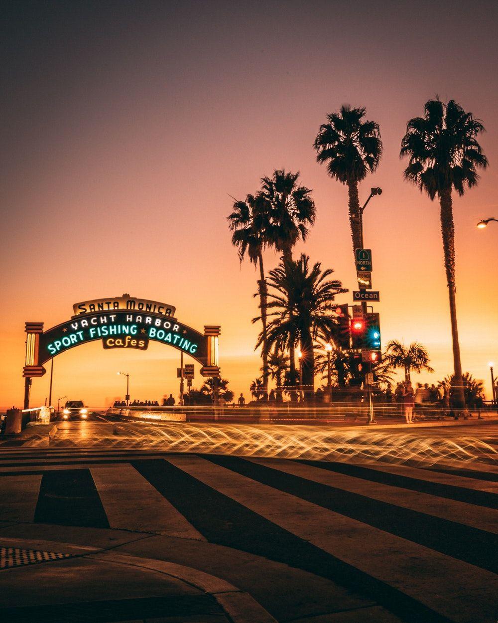 Santa Monica Beach Wallpapers Top Free Santa Monica Beach Backgrounds Wallpaperaccess