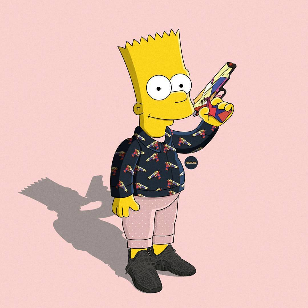 Hood Bart Simpson Supreme Wallpapers Top Free Hood Bart