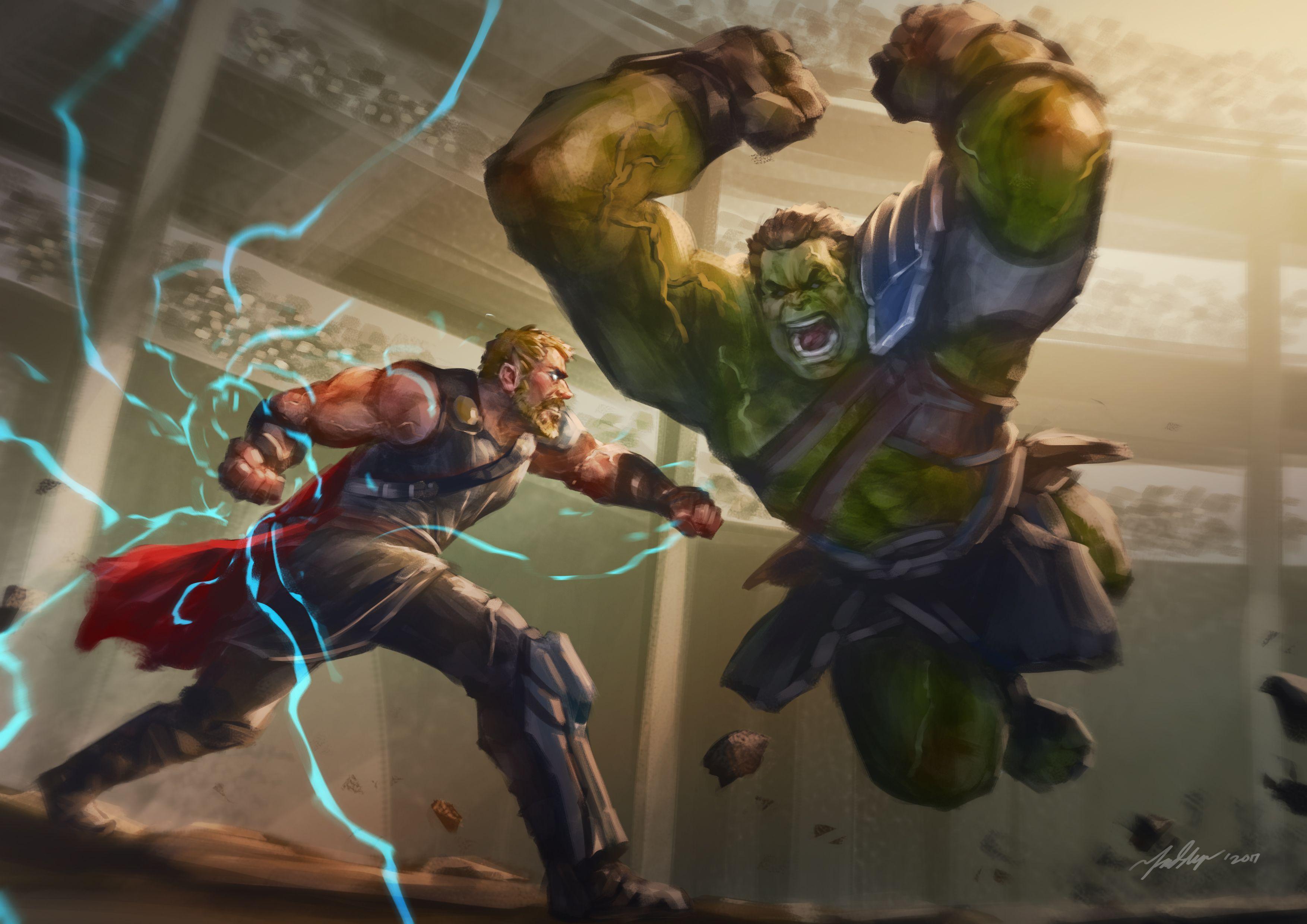 Hulk Vs Thor Wallpapers Top Free Hulk Vs Thor Backgrounds