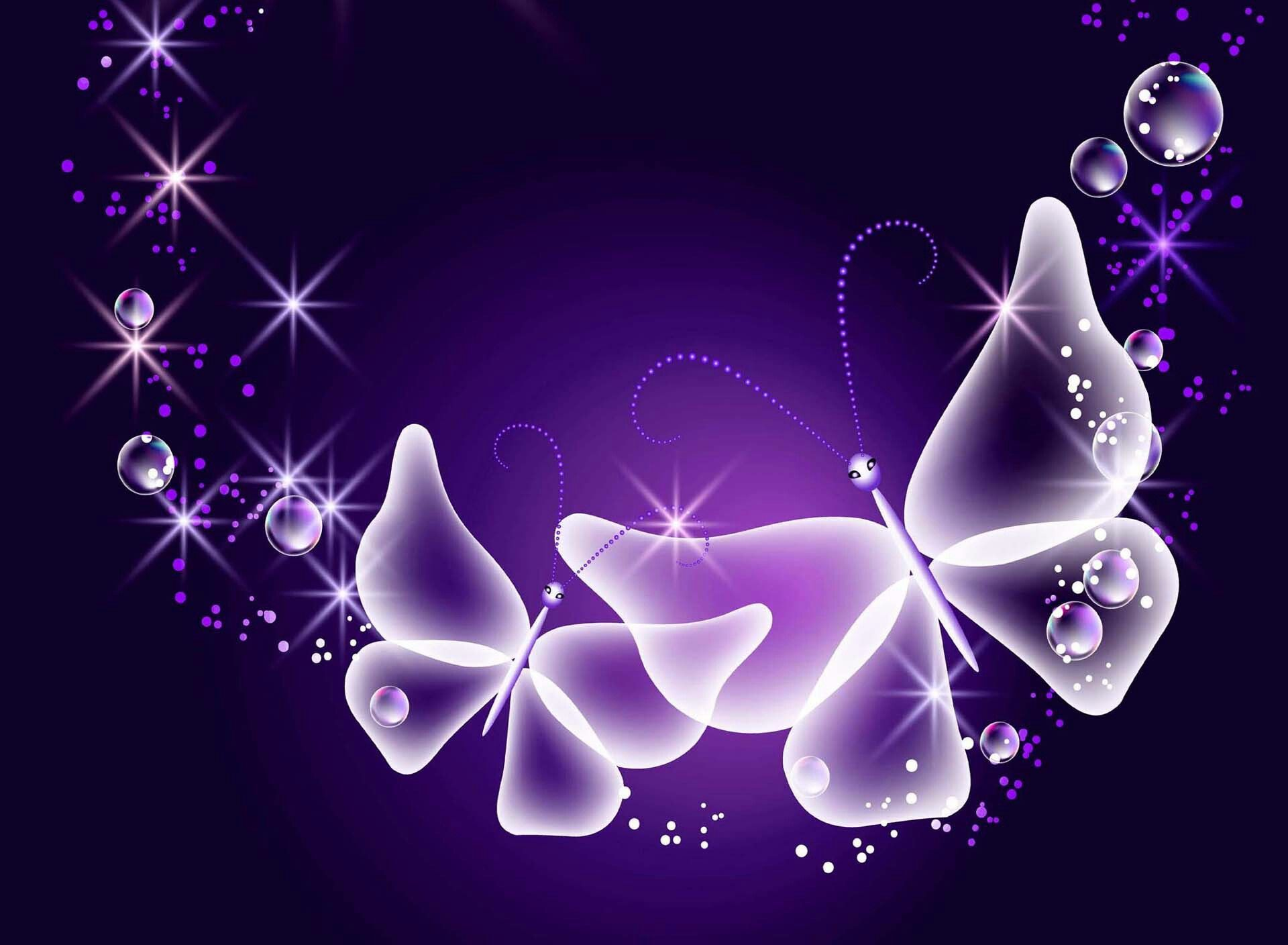 Blue and Purple Butterflies Wallpapers - Top Free Blue and ...