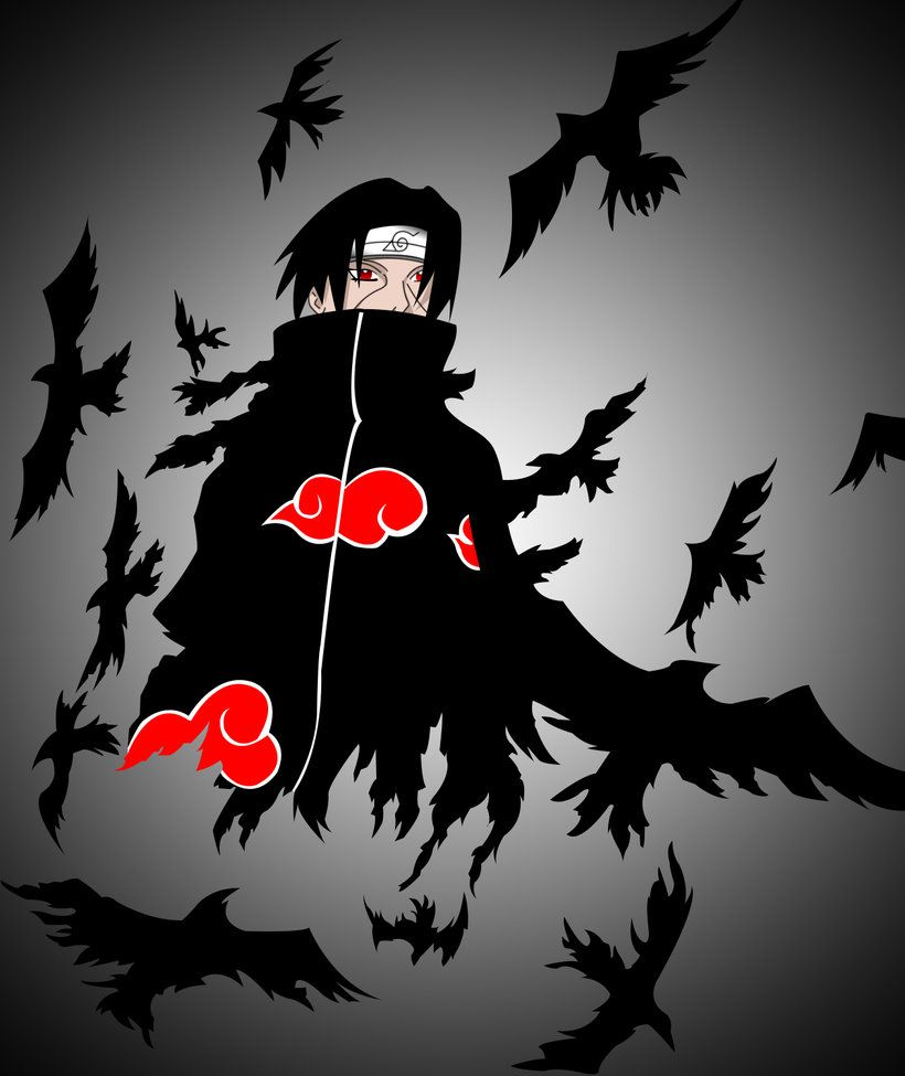 Itachi Crow Wallpapers Top Free Itachi Crow Backgrounds Wallpaperaccess