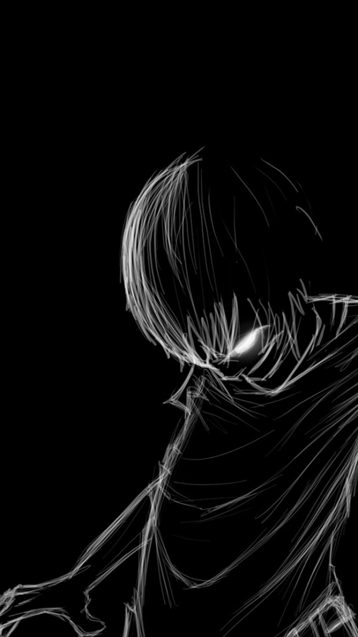 Anime Black And White Iphone Wallpapers Top Free Anime Black And