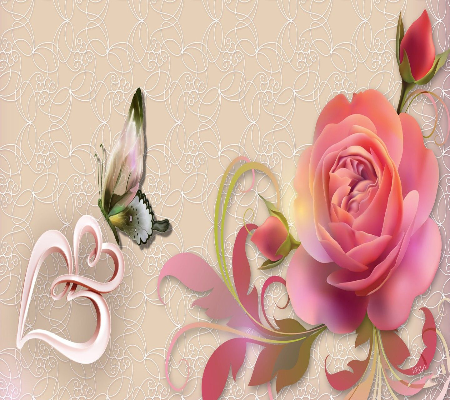 Hearts and Butterfly Wallpapers - Top Free Hearts and ...