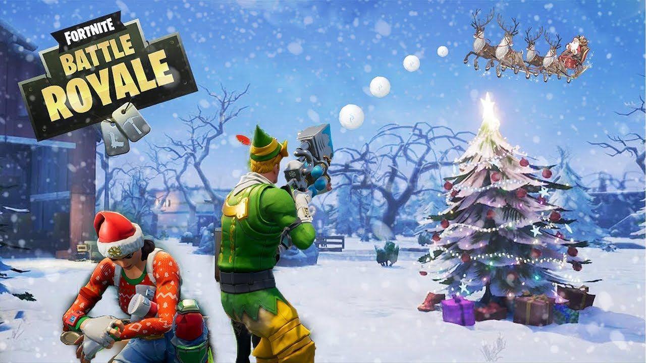 Fortnite Christmas Tree Background.Christmas Update Fortnite Desktop Wallpapers Top Free