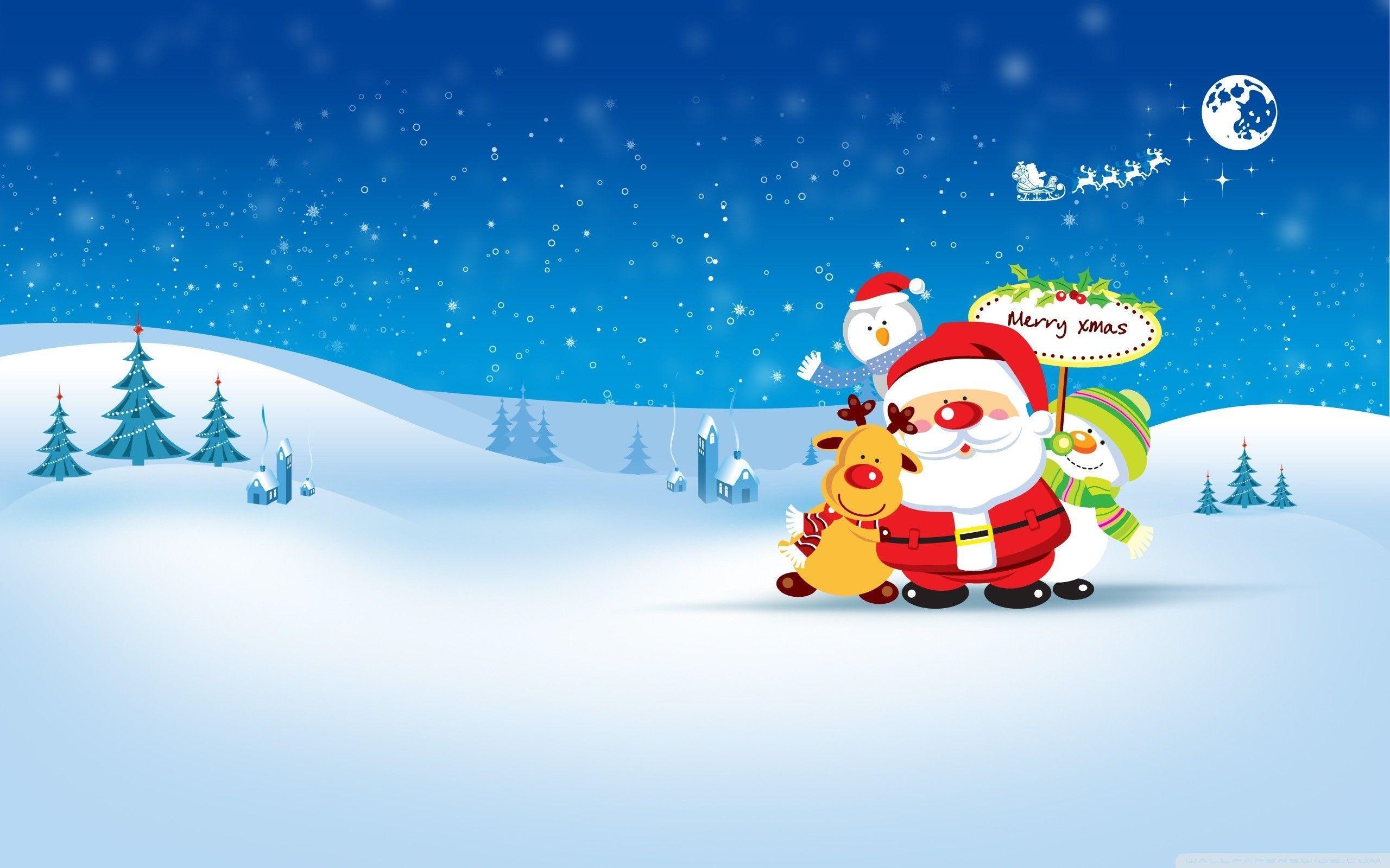 Christmas Cartoon Wallpapers - Top Free