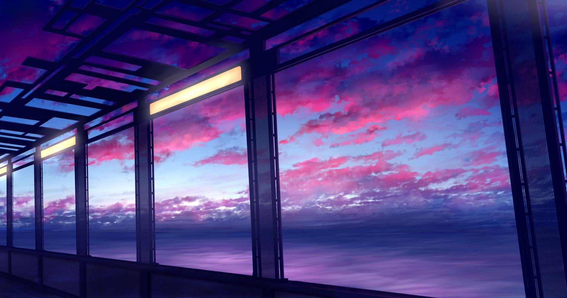 Purple Anime Scenery Wallpapers Top Free Purple Anime Scenery