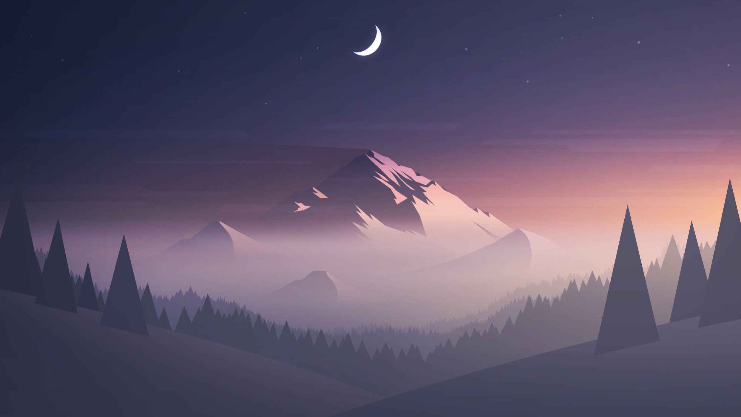 Minimalist Mountain Wallpapers Top Free Minimalist
