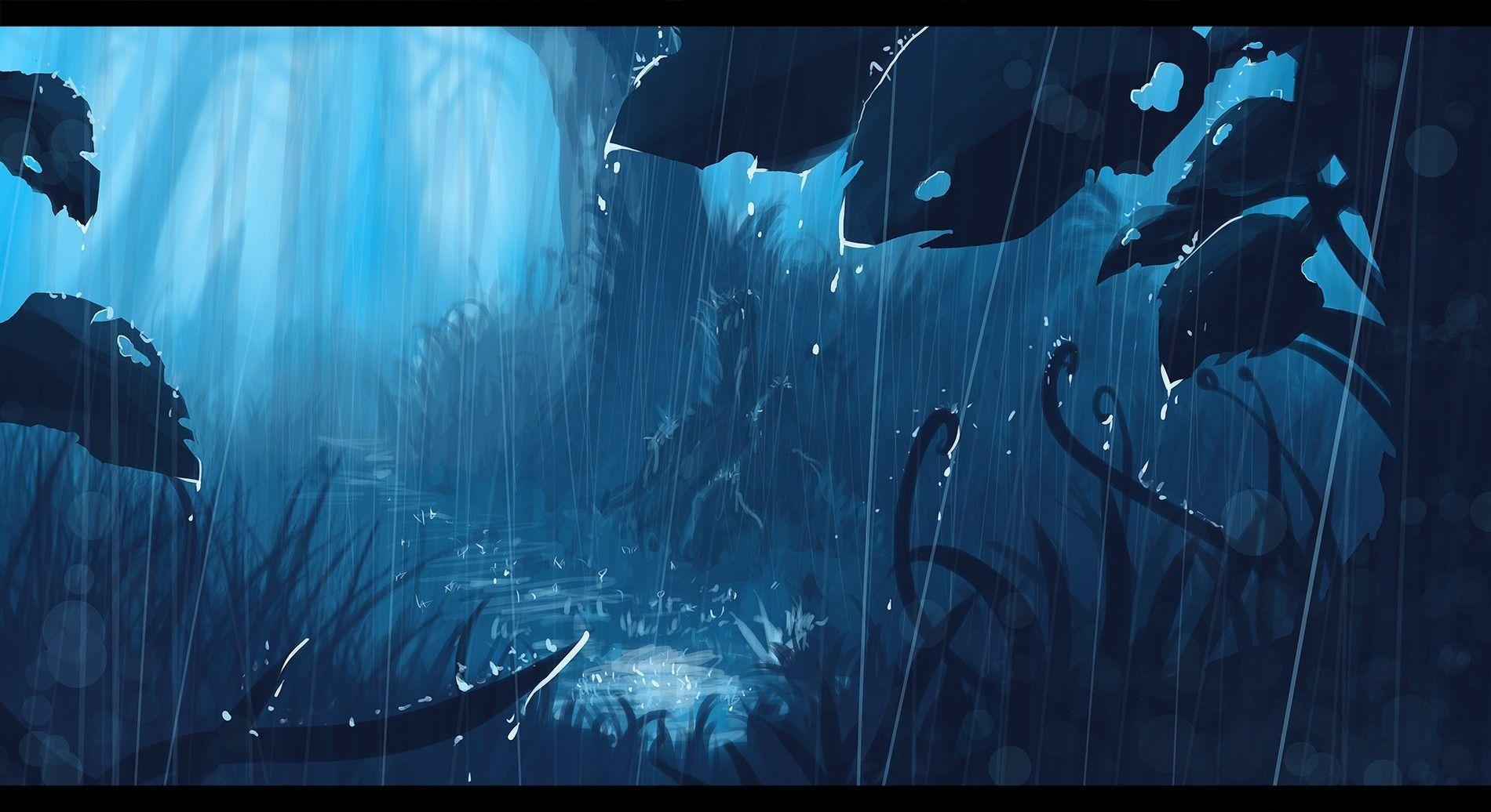 Anime Rain Scenery Wallpapers Top Free Anime Rain Scenery Backgrounds Wallpaperaccess