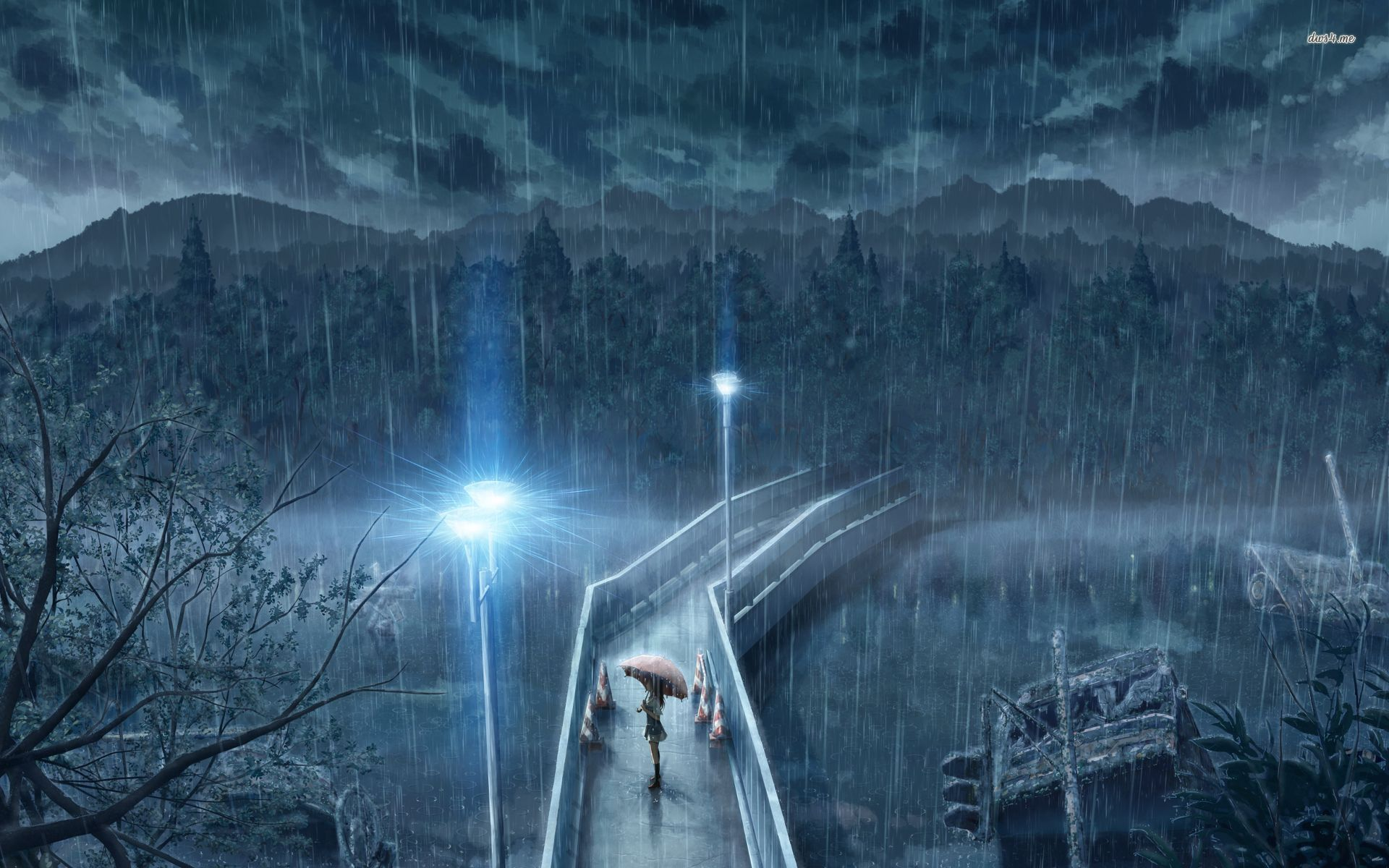 Anime rain scenery wallpapers top free anime rain - Anime rain wallpaper ...