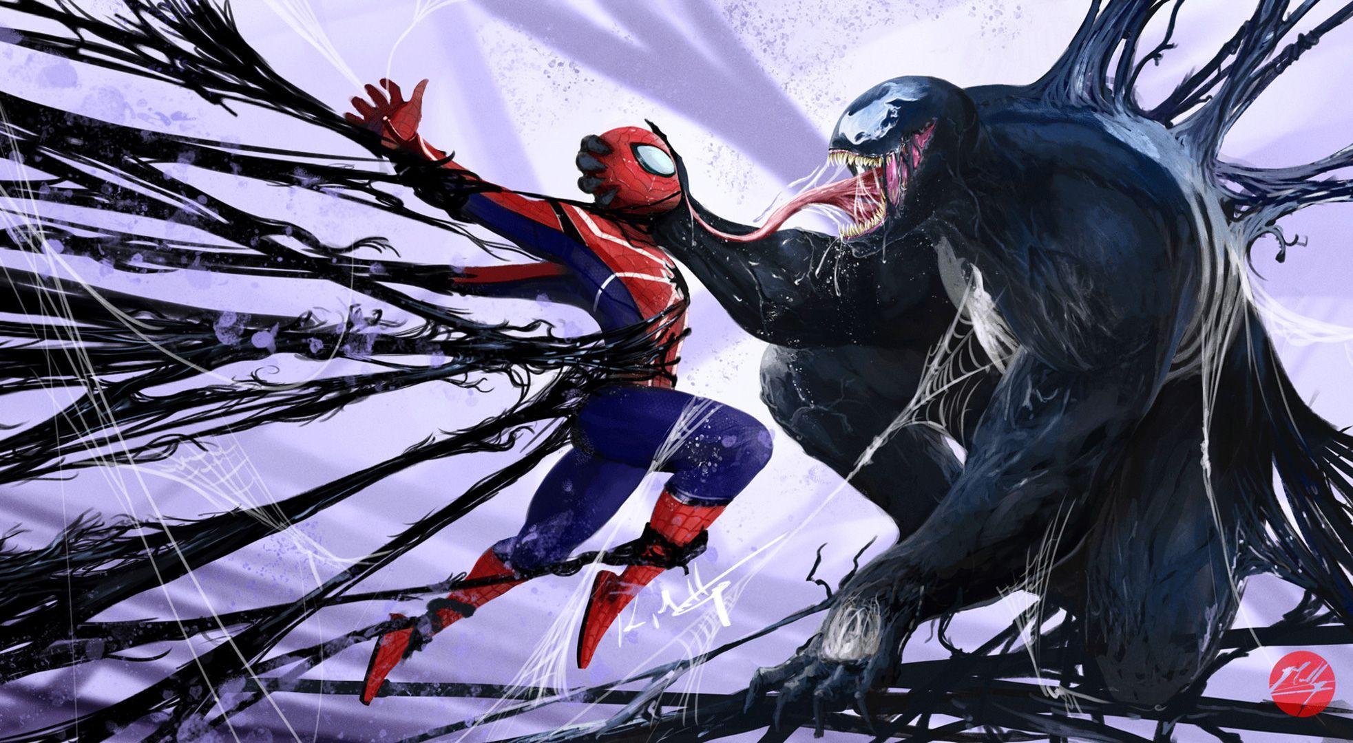 venom with spider man