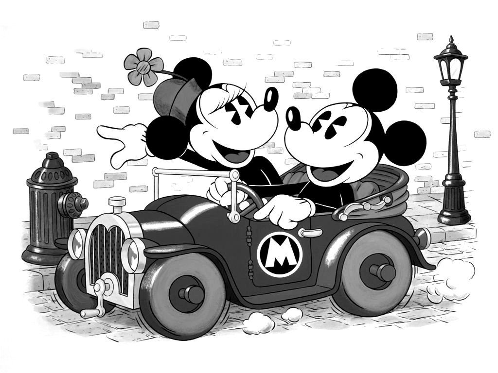 Mickey And Minnie Mouse Black And White Wallpapers Top Free Mickey