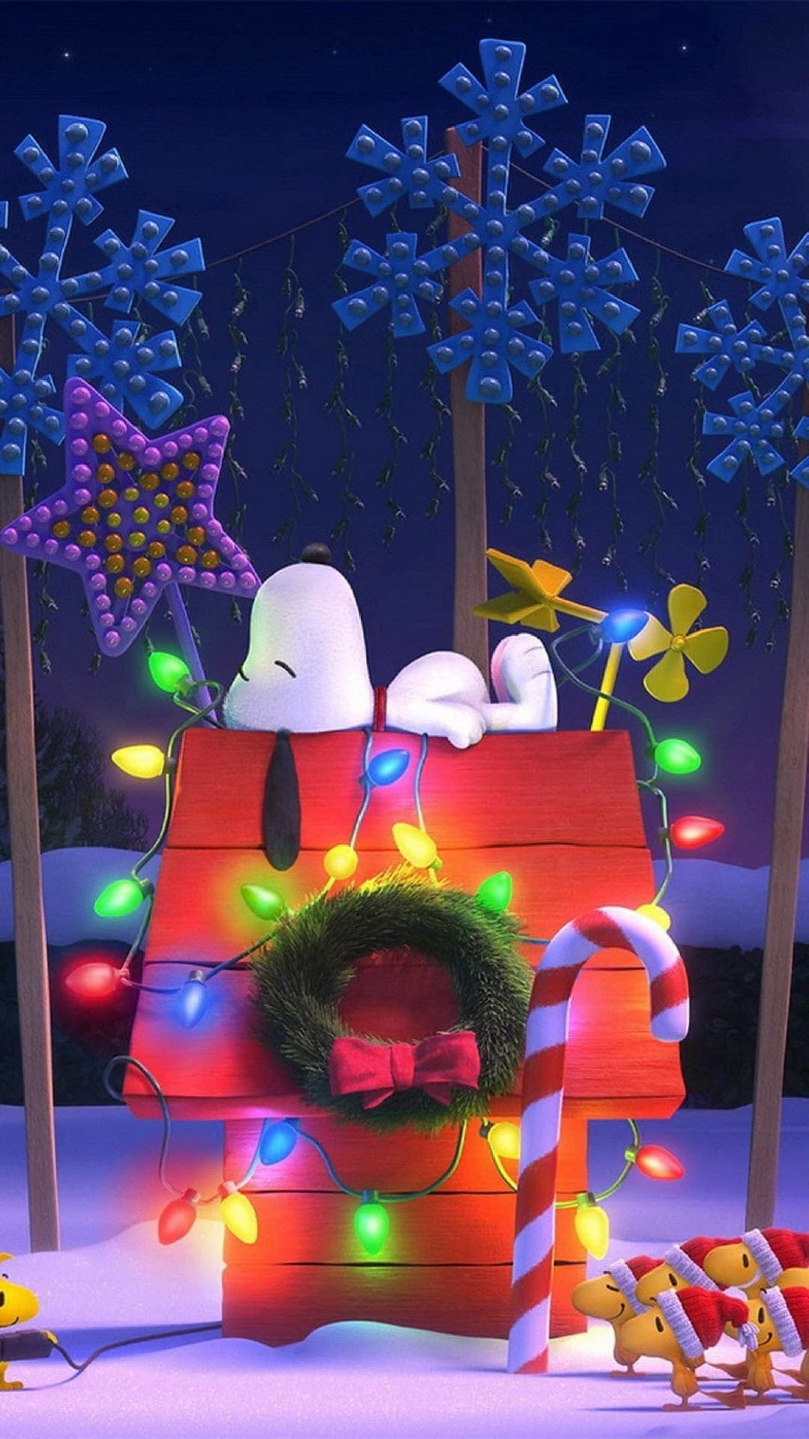 Snoopy Christmas iPhone Wallpapers