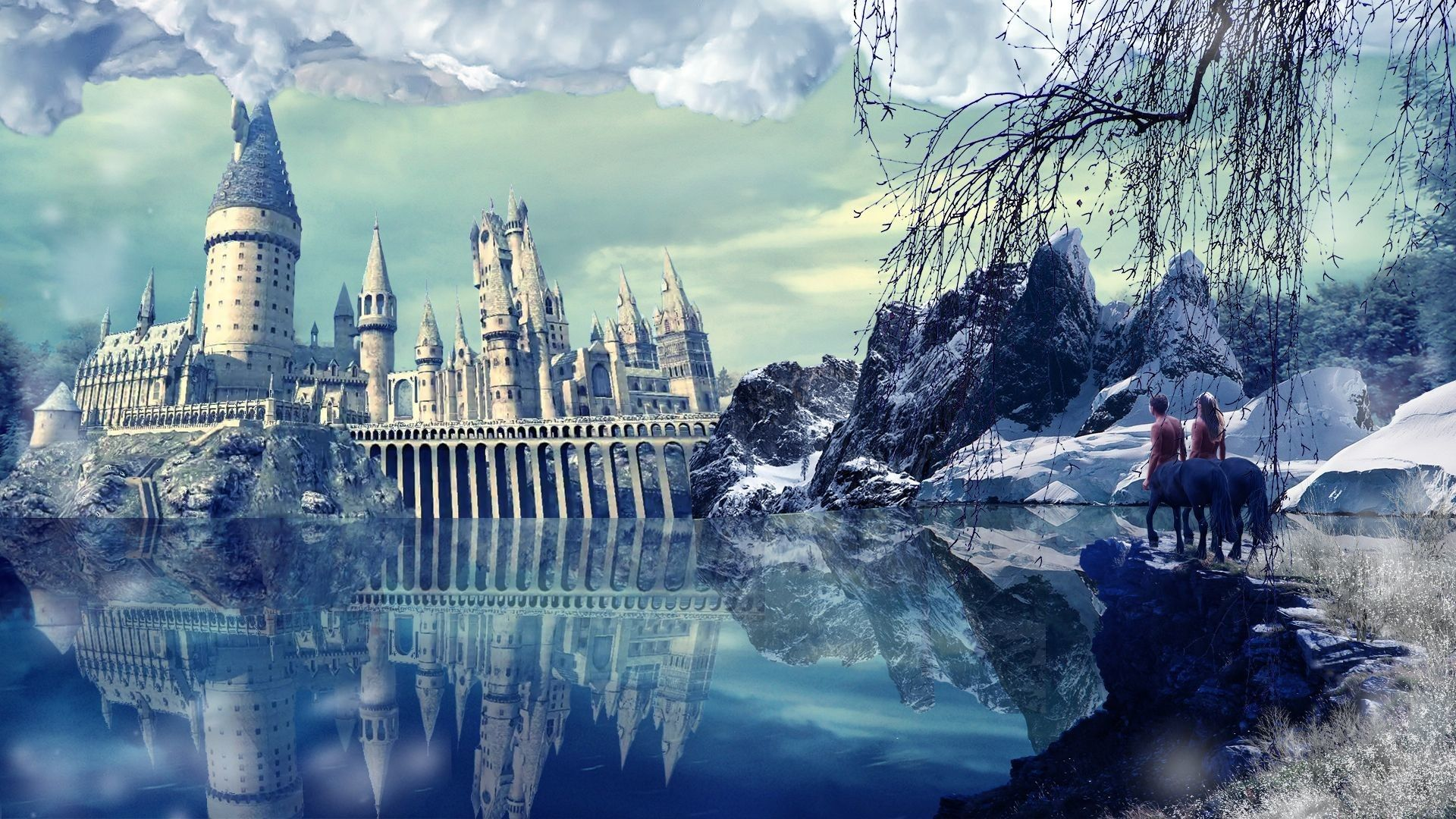 Hogwarts Winter Wallpapers Top Free Hogwarts Winter Backgrounds Wallpaperaccess