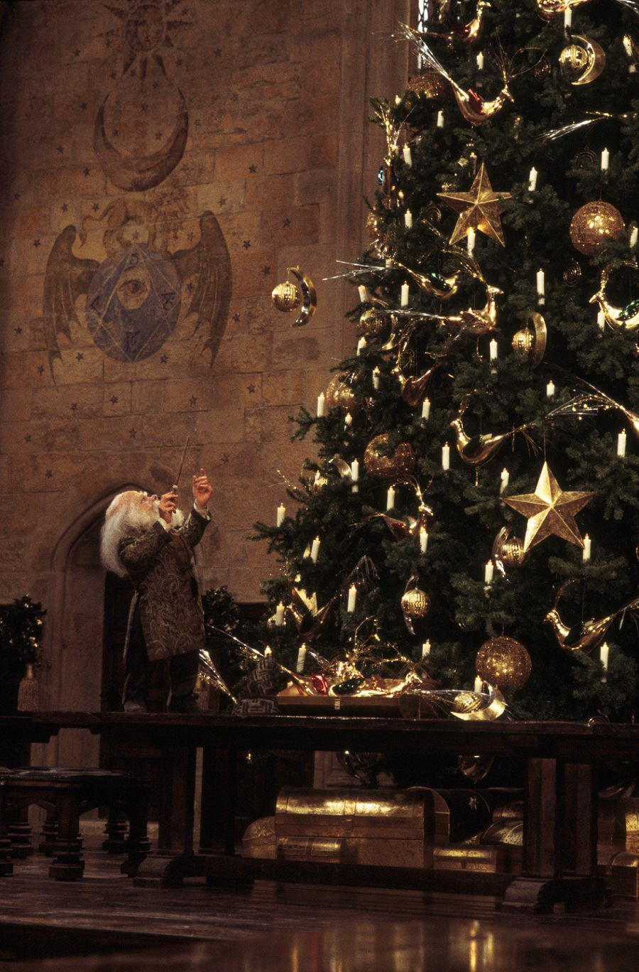 Harry Potter Christmas Wallpaper Hd.Harry Potter Christmas Tree Wallpapers Top Free Harry