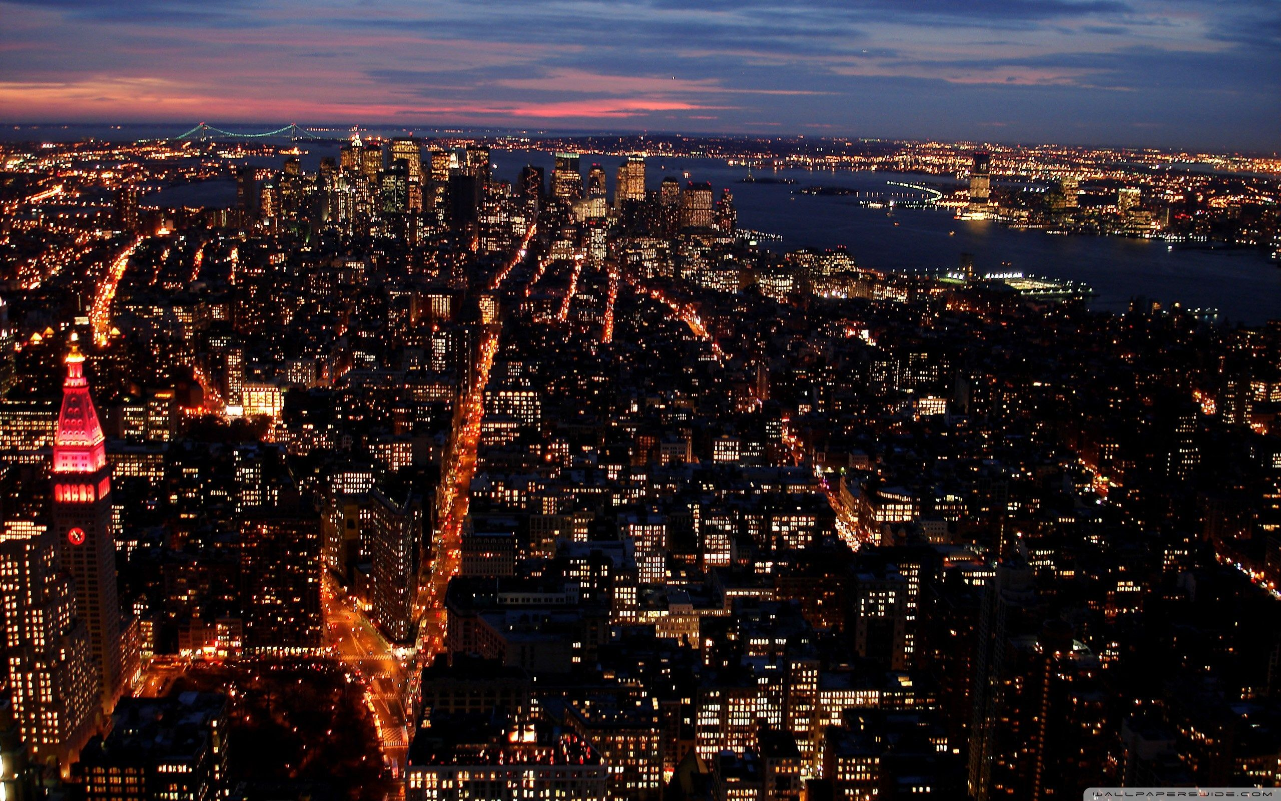 City Lights At Night Wallpapers Top Free City Lights At Night Backgrounds Wallpaperaccess