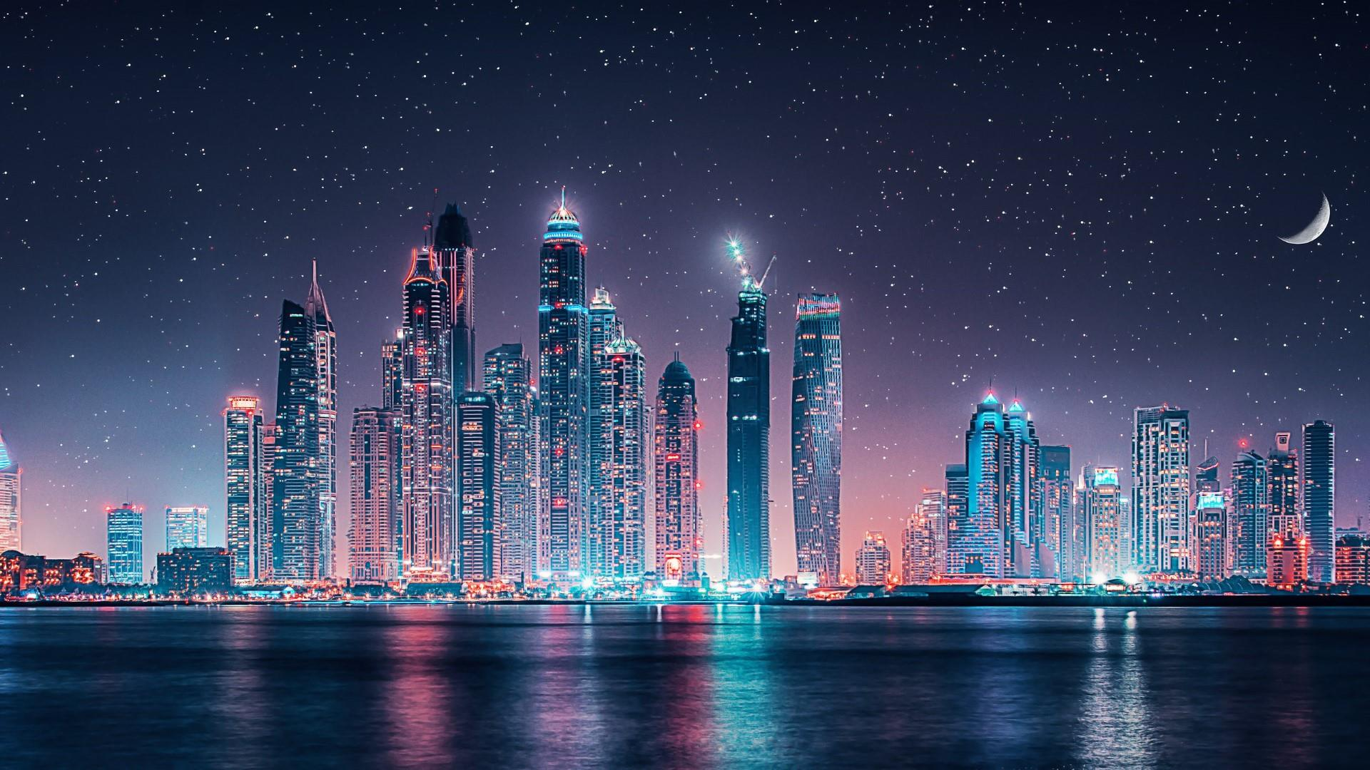 Skyline at night wallpapers top free skyline at night backgrounds wallpaperaccess - Skyline night wallpaper ...