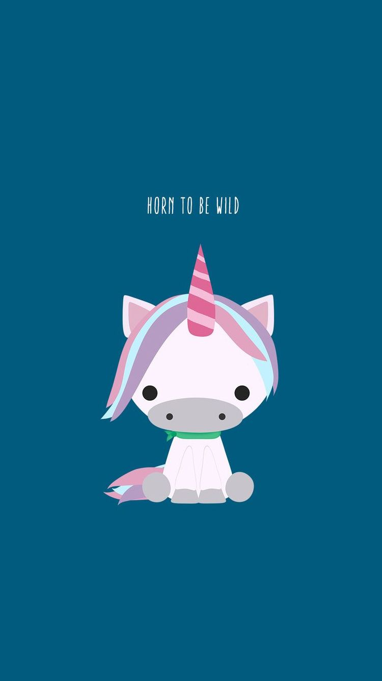 750x1334 Horn To Be Wild Cute Unicorn iPhone 6 Wallpaper | iPhone Wallpapers .