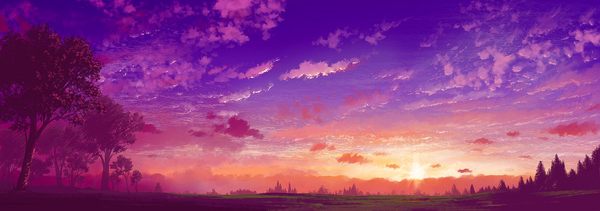 Pink Anime Scenery Wallpapers Top Free Pink Anime Scenery