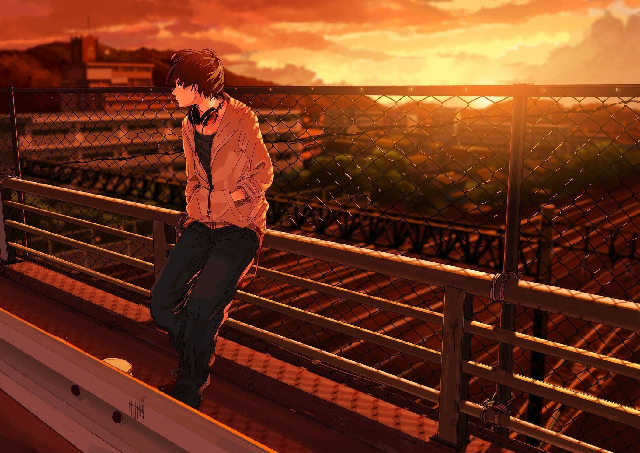 Alone Anime Guy Wallpapers Top Free Alone Anime Guy Backgrounds Wallpaperaccess