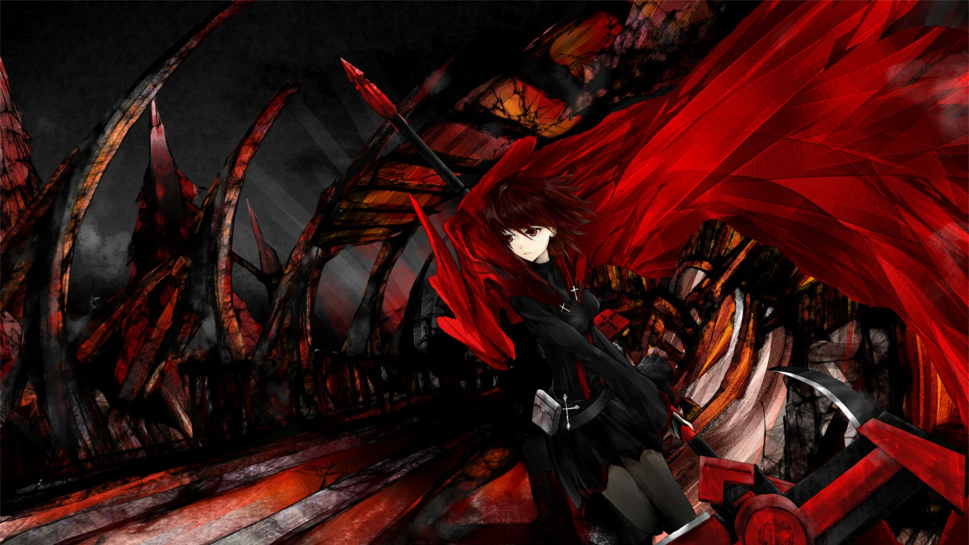 Dark Red Anime Boys Wallpapers Top Free Dark Red Anime Boys Backgrounds Wallpaperaccess