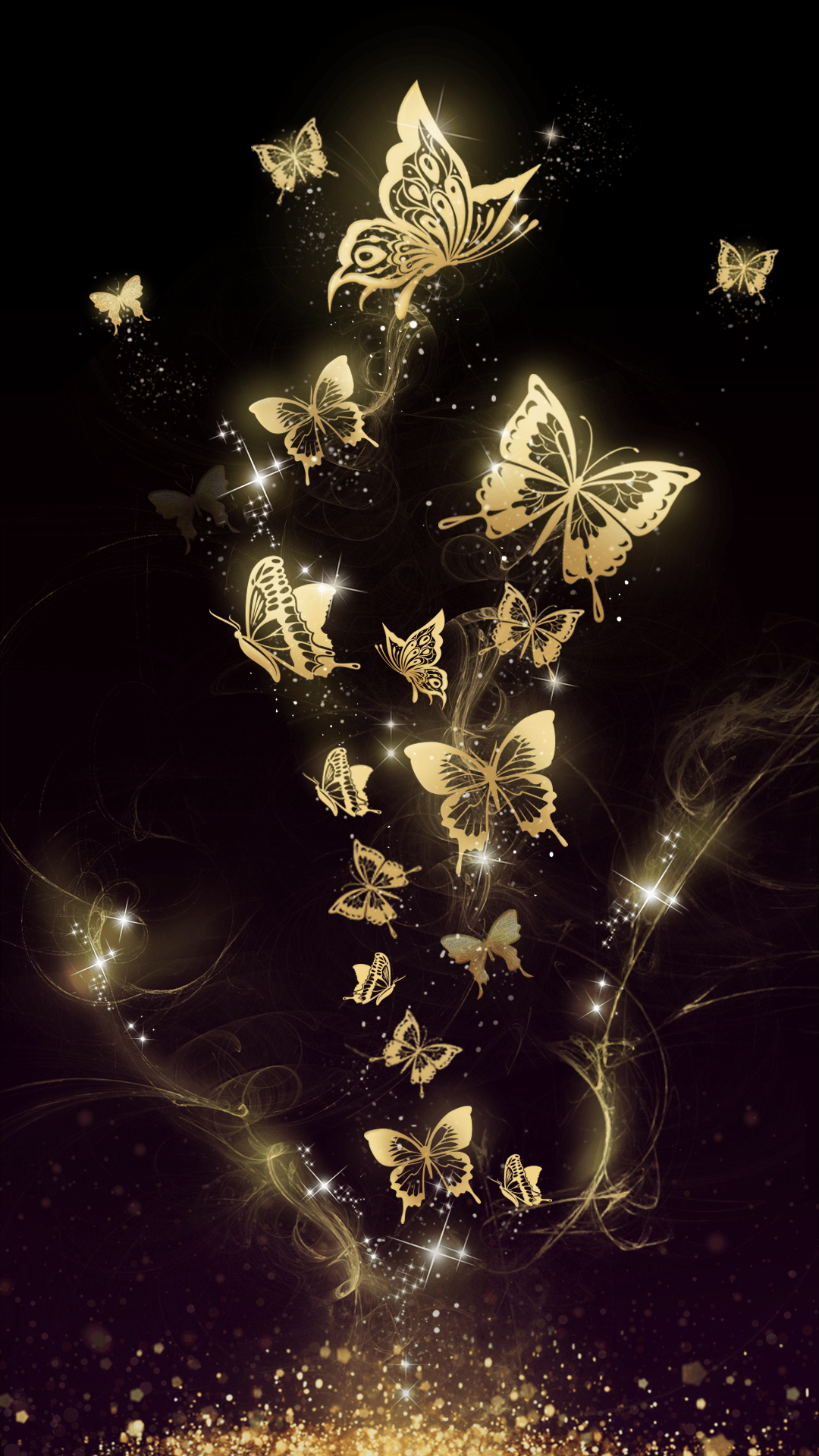 Gold And Black Butterfly Wallpapers Top Free Gold And Black Butterfly Backgrounds Wallpaperaccess