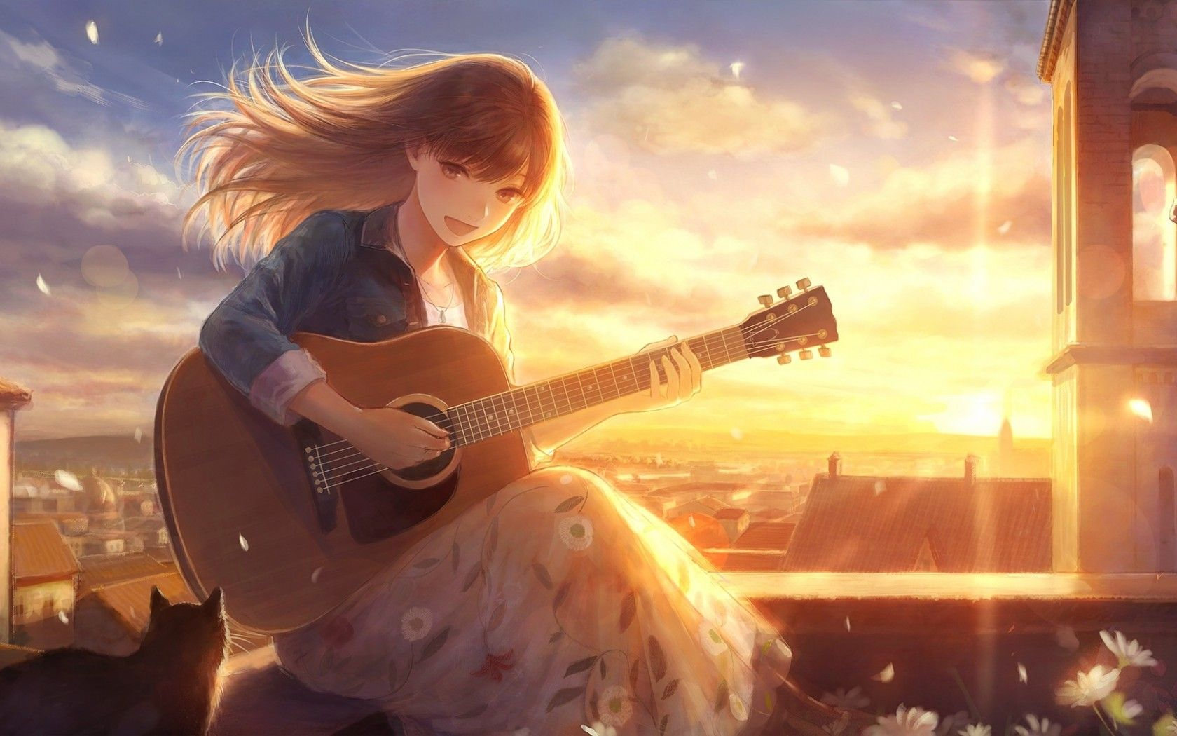 anime guitarist wallpapers top free anime guitarist backgrounds wallpaperaccess. Black Bedroom Furniture Sets. Home Design Ideas