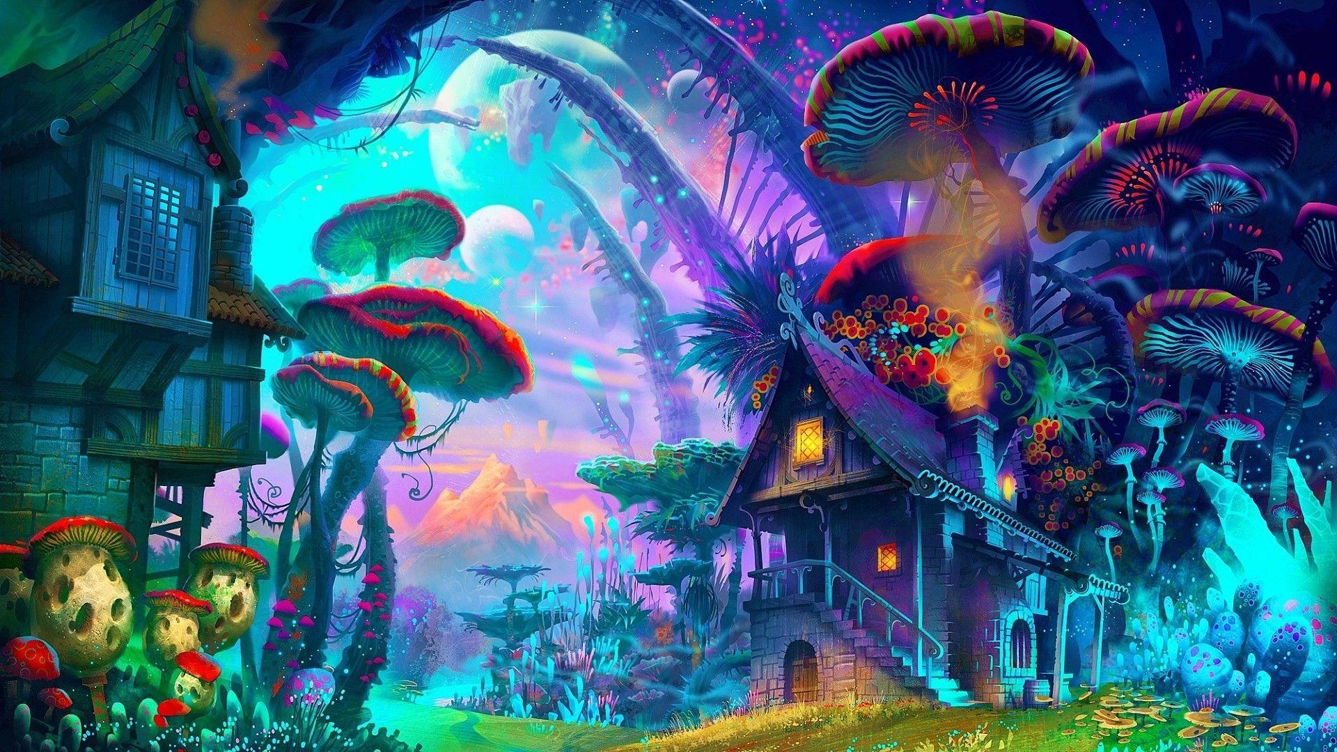 Trippy Mushroom Wallpapers Top Free Trippy Mushroom Backgrounds