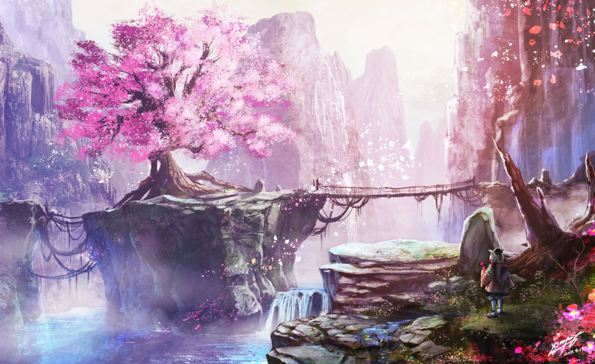 Cherry Blossom Tree Anime Wallpapers Top Free Cherry