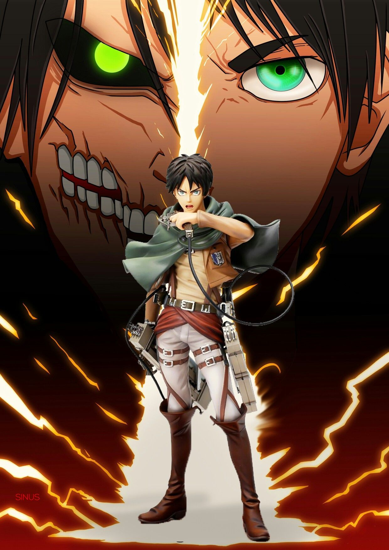 Eren Attack On Titan Wallpapers Top Free Eren Attack On Titan Backgrounds Wallpaperaccess