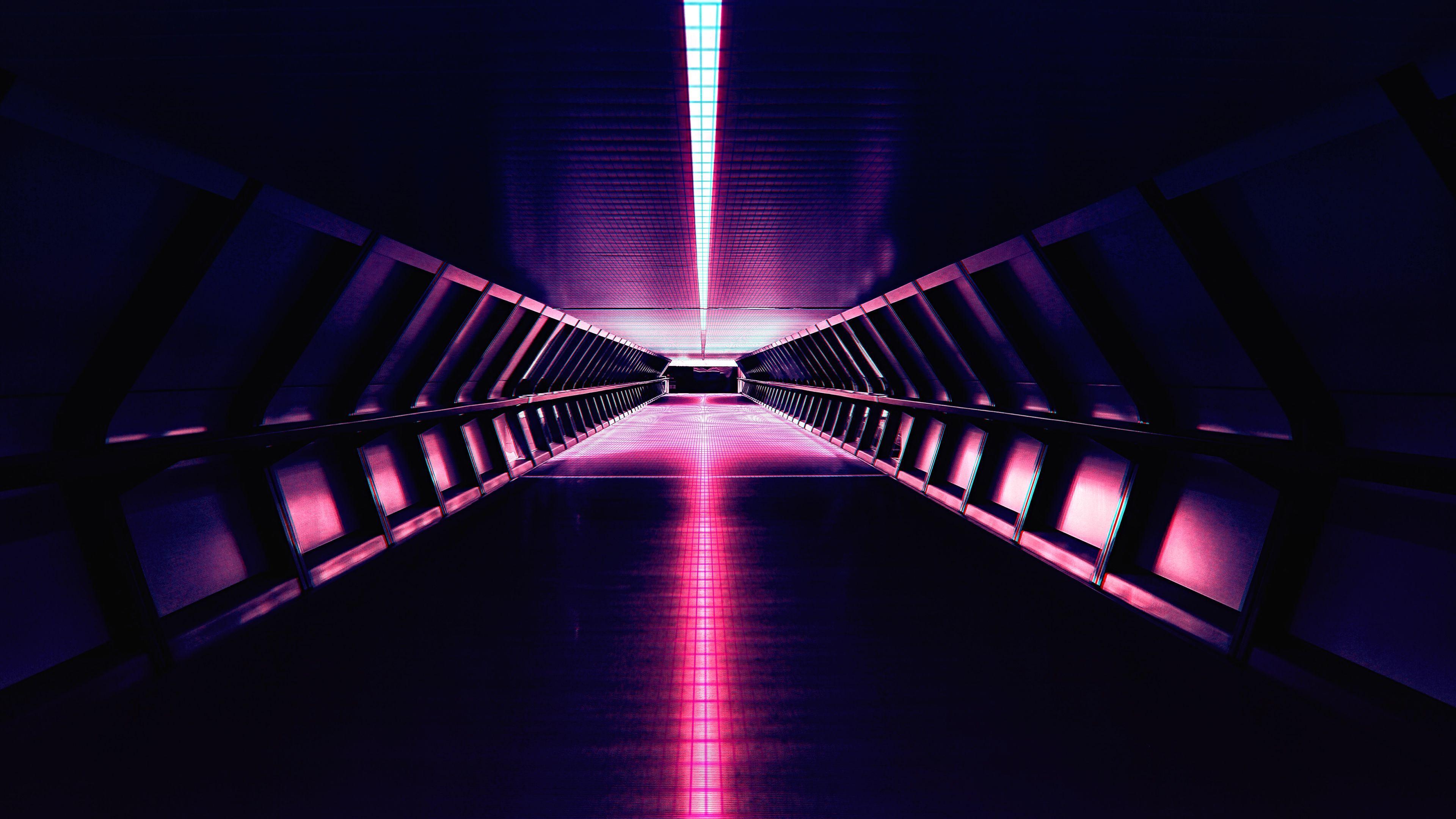 3840x2160 Hình nền Synthwave, Cổ điển, Nhạc điện tử, Đèn neon, Kiến trúc