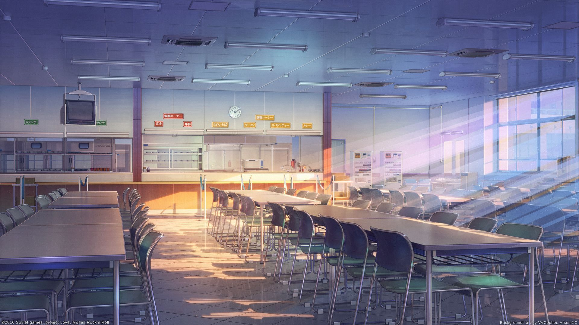 X School Anime Scenery Background Wallpaper
