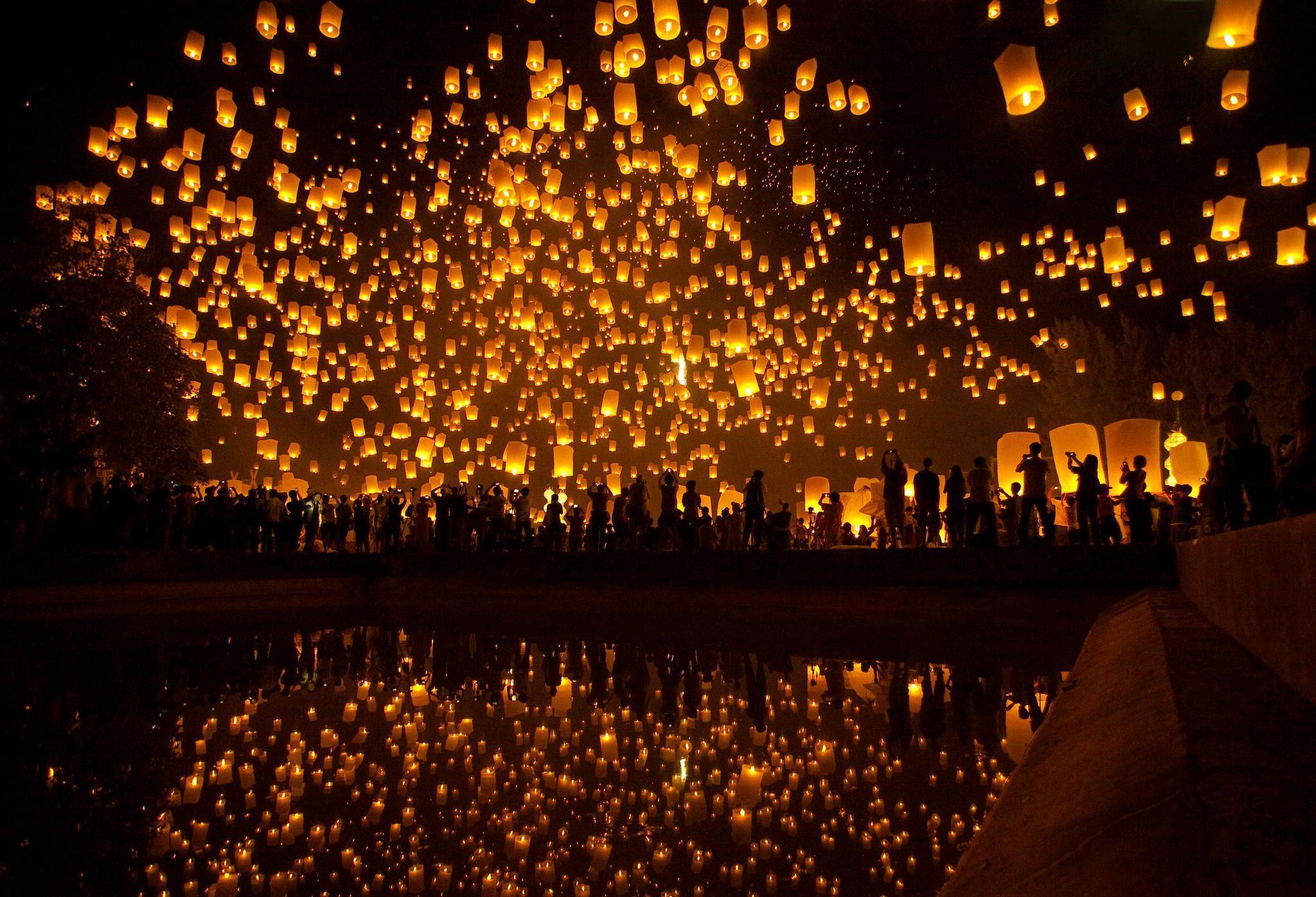 Lantern Festival Wallpapers Top Free Lantern Festival Backgrounds Wallpaperaccess