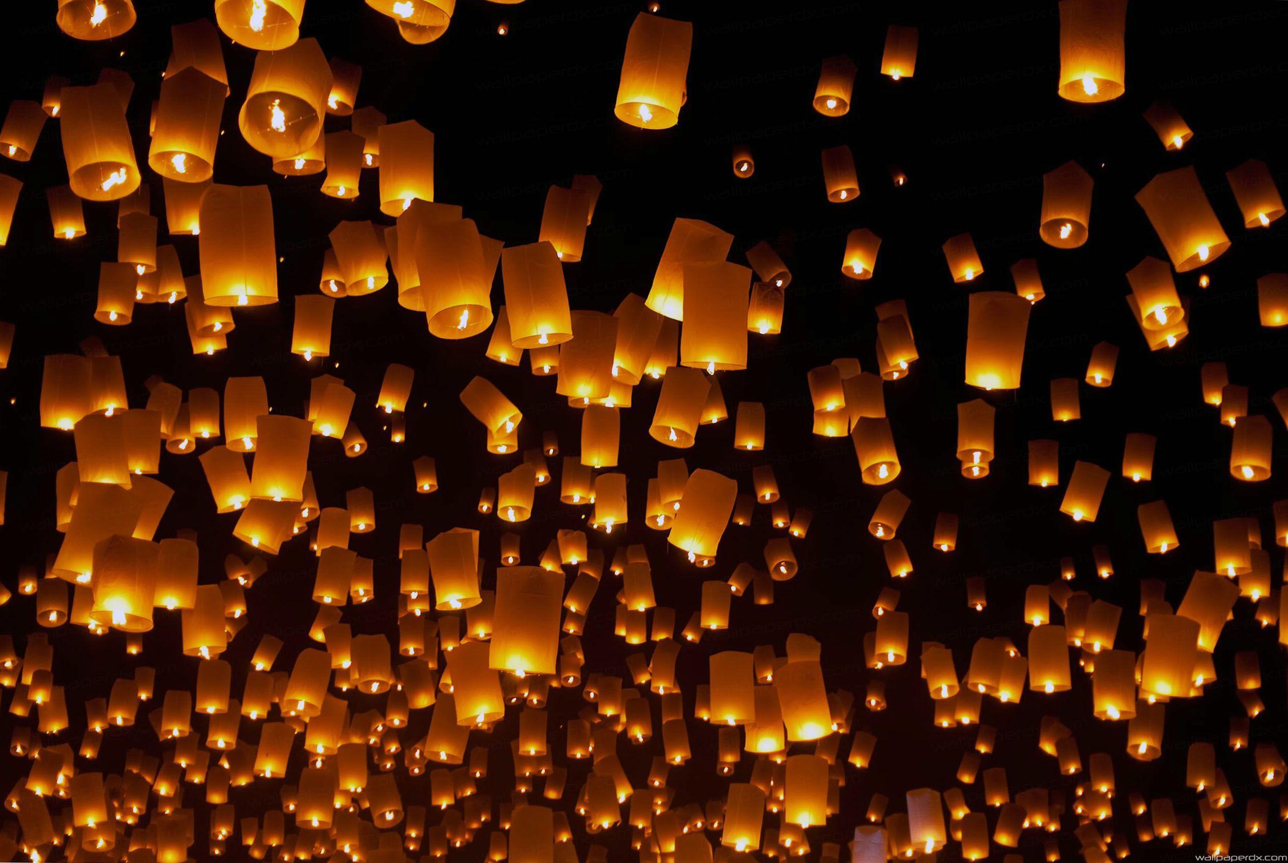 2594x1739 sky lantern festival thailand hd wallpaper hd wallpaper .