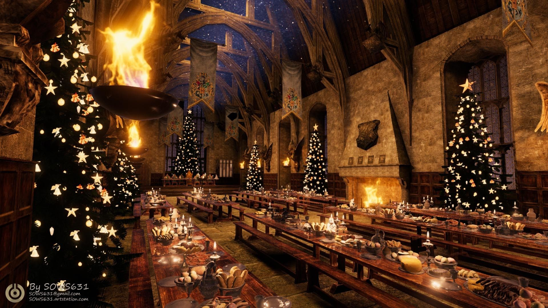 Large Harry Potter Christmas Wallpapers Top Free Large