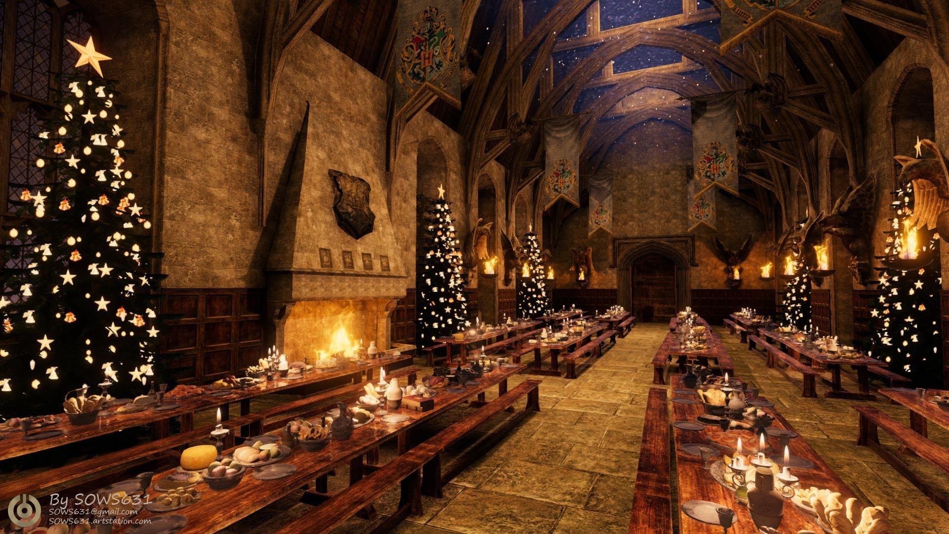 Hogwarts Christmas Wallpapers Top Free Hogwarts Christmas