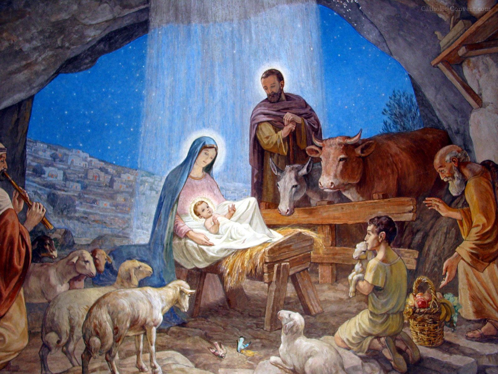 Catholic Christmas Nativity Wallpapers
